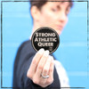 "Love the Strong Athletic Queer Design? Wish that you could wear your shirt always but sometimes you have to wash it so you can't? Well, great news! We have stickers. You can put them on your mirror, on your dashboard, on your computer, on your phone on your fridge! Just add it to your order and save a few bucks on shipping and such. These stickers are 3"" x 3"" in size, or about the palm of an average size adult hand."