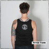 This is the back view of the Strong Athletic Queer Fitted Back Tank. We created this tank so that people who are part of the LGBT community can openly tell the world that queer athletes exist within sports.  This tank was designed by Bella Canvas, the style number is 3480. This tank is preshrunk.