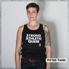 This is the Strong Athletic Queer Fitted Tank. We created this tank because we wanted to remind people that being strong and athletic is so much more than simply participating in sports. The key reason that we want the Strong Athletic Queer design to exist in the world is because we know that it motivates people. This tank has the ability to act as an intrinsic and extrinsic form of motivation. Some people wear it and when they look in the mirror they truly believe what they read, and it reinforces that powerful message. Other people need to read these 3 words on the chests of those around them to see what the words symbolize in theirselves. This tank was designed by Bella Canvas, the style number is 3480. This tank is preshrunk. A portion of profits from this tank were donated in advance to Pull for Pride, an international advocacy and education program of Women's Strength Coalition, dedicated to supporting LGBTQIA2S+ athletes.