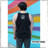 This is the Strong Athletic Queer Fitted Tank. This tank was designed by Bella Canvas, the style number is 3480. This tank is preshrunk.