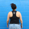 This is the back of the Strong Athletic Woman Crop Top Racerback with Black White Ink. The athlete in the photo is wearing a black bra, if you zoom in you'll be able to see how much of her bra is exposed. We print this design on the ever popular Bella Canvas 6682. Our Strong Athletic logo sits on the back, between the shoulder blades. We have received feedback from many people in the Strong Athletic community that our logo is their favorite and one of the reasons that they love wearing our products. #strongathletic , #strongathleticwoman , #strongathleticwomen , #womenwholift , #womeninsports , #strongwoman , #juststrong , #strong , #womeninsports #womeninathletics , #feministinsports