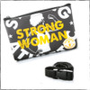 "This is the Strong Athletic Woman Gray Fanny Pack with Yellow Ink made for Strong Athletic by Flat Track Revolution. The bags are made out of a heavy weight coated canvas fabric that is water resistant. The words ""Strong Woman"" are printed in yellow ink over the artwork. Each bag comes with a black adjustable nylon strap."