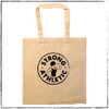 """This is the back of the Strong Athletic Rower Tote bag. The Strong Athletic logo is centered on the back of this tote, the words """"strong athletic rower"""" are on the other side. Strong Athletic is owned by a rowing coach, so you're supporting a rowing coach when you buy this product."""