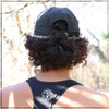 This is the back view of the Strong Athletic Super Light Weight Runner's Hat with our logo embroidered on the front. We love this hat because the velcro strap makes it easy to adjust while running.