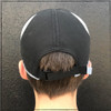 This is the back of the Strong Athletic Super Light Weight Runner's Hat. The velcro strap makes it so the hat is fully adjustable and also easy to adjust while you're working out. This hat is easy to wash as well, just drop it in the washing machine and then let it air dry.