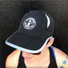 This is the front of the Strong Athletic Super Light Weight Runner's Hat. We love how our Strong Athletic logo is centered in the middle of the hat. The mesh centered through out the top of the hat makes this hat extra breathable.