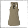 This is the back of the Strong Athletic Veteran Racerback Tank. Although the material cuts into the back toward the mid back and reveals the shoulders, the arm holes are average, when compared to a muscle tank. We print this design on the Bella Canvas 8430. #veteran , #armyveteran , #mission22 , #rollerderbybattlebuddies