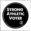 We made a limited run of Strong Athletic Voter stickers. Add a few to your order and proudly display the fact that you vote on your water bottle, your favorite journal, your portable coffee mug, the back window of your car, your bicycle..... you get the picture.