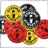 Every Strong Athletic Sticker set comes with one of our Strong Athletic Logo stickers. You'll get either yellow, black or red, depending on which one we throw in.
