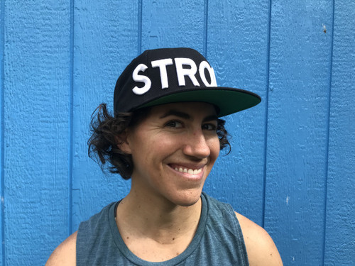Strong Hat (black with white letters)