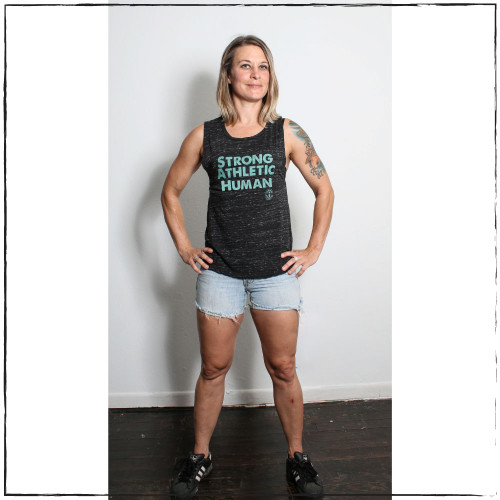 We created the Strong Athletic Human tank because some Strong Athletic supporters requested that we have an all-encompassing word that went beyond gender. Strong Athletic is a company that supports ALL members of the LGBTQ+ community in sports. Haven't heard of Strong Athletic before? Welcome in.