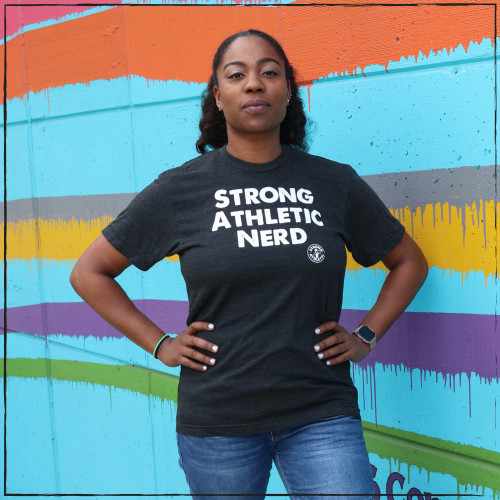 Did you know that athletic nerds need a t-shirt. One for the gym or to wear out on the town as casual wear. What does it mean to be Strong and Athletic? What does it mean to be a nerd? Does it exclude you to your strength and athleticism. I think you now the answer....