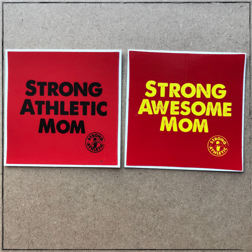 Are you a Strong Athletic and Awesome Mom? Do you know one? I bet you know a ton! At Strong Athletic we actually, whole-heartedly believe that all Moms are strong. Regardless of if a mom had a baby naturally or adopted, it takes all types of strength to be a parent. This sticker is for any and all Moms. use it along with the hashtag #strongathelticmom and #strongawesomemom
