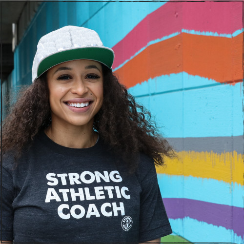 This is the  Strong Athletic Coach Shirt. We print this design on three different styles of shirts: a traditional crew neck t-shirt, a tank top and a baseball t-shirt. Are you a coach or do you adore a coach and want to show them that you appreciate them? The Strong Athletic Coach shirt is perfect.