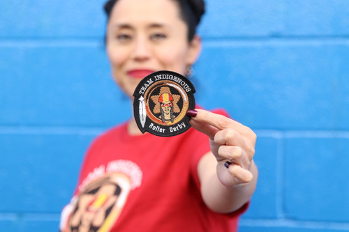 The Team Indigenous Rising Logo Patch is a perfect way to carry Team Indigenous' epic logo with you everywhere. This patch was embroidered in Portland, Maine by a local woman-owned embroider.