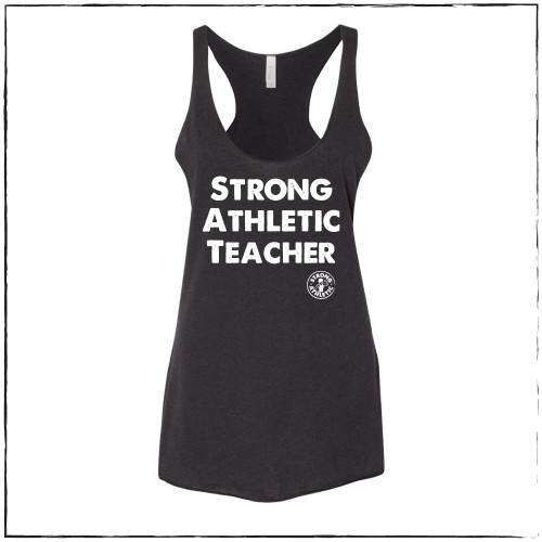 This is the Strong Athletic Teacher Racerback Tank by Strong Athletic.