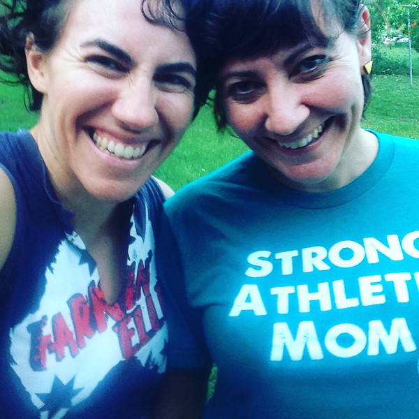 This is my sister Lisa sporting her Strong Athletic t-shirt, she's the perfect example of a Strong Athletic Mom- and the best sister on earth!