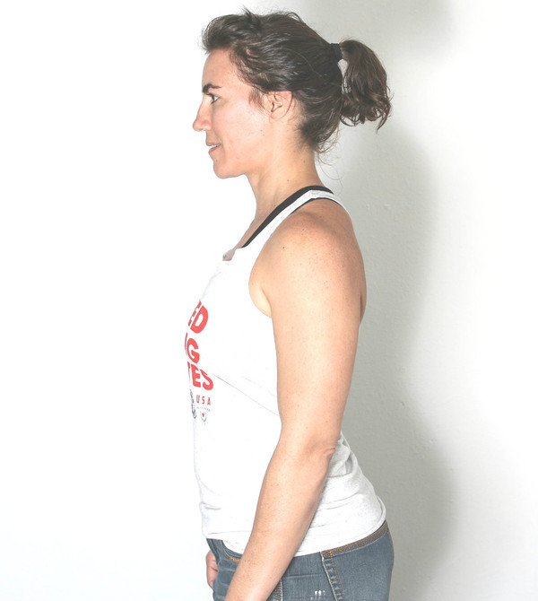 This is the side view of the United Strong Athletes racerback.
