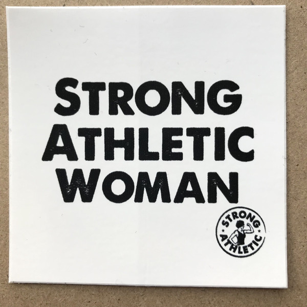 This the original sticker that Strong Athletic made. It's the Strong Athletic Woman sticker. We know from experience that these stickers are well made and durable. You can stick it on anything inside or out and it's a weatherproof sticker. You already use the tag #strongathleticwoman, why not get the sticker?