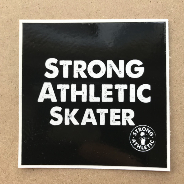 This is one of everyone's favorite derby hashtags and one of our favorite t-shirts. Strong Athletic Skater. It's inclusive of all genders, it's inclusive of so many people who like to kill it on wheels. It's specific to our beautiful sport of roller derby.