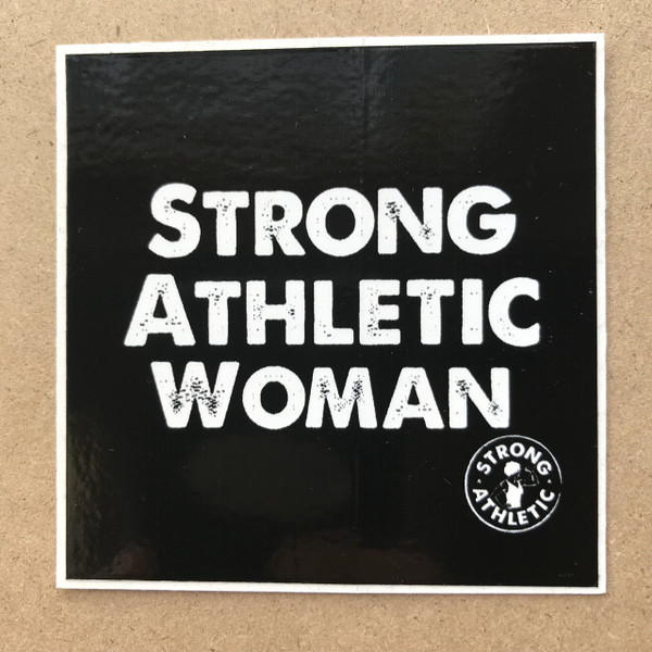This sticker is based on the original design of Strong Athletic- the Strong Athletic Woman t-shirt. In the bold colors of black and white, this sticker is for all athletic women who want to be seen in a world who don't expect women to be athletes past college. #strongathleticwoman and #strongathleticwomen are the hashtags we use with pride