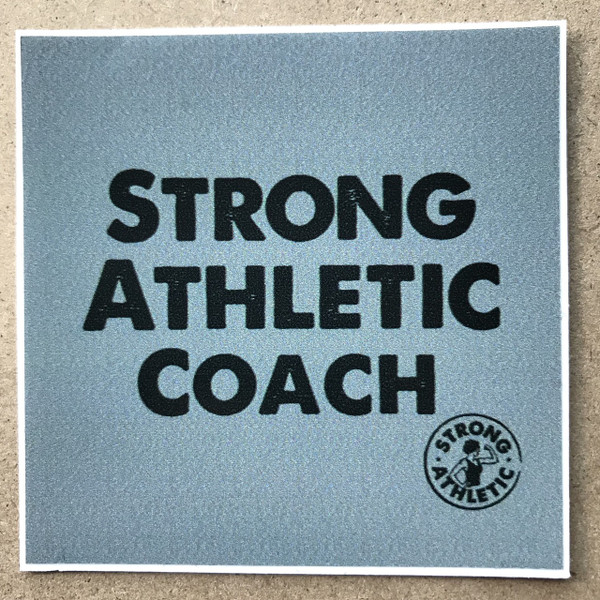 The Strong Athletic Coach sticker is for every coach who both coaches and also plays sports. This sticker is for the athletes who had to retire but who still want to stay active and strong. This sticker is for all the former players who coach, the parents of juniors who step up to coach and anyone in between. Strong Athletic Coaches, we need them. #strongathleticcoach