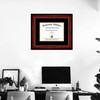 Single Diploma Frame on wall