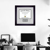 Personalized Diploma Frame on wall