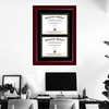 Double Diploma Frame on Wall