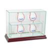 4 Upright Baseball Display Case