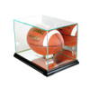Rectangle football display case in black moulding by Perfect Cases, Inc.