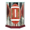 Upright Football Display Case with Cherry