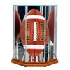 Upright Football Display Case with Walnut