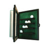 20 Golf Ball Cabinet Style Display Case Black w/ Green Suede