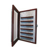 36 Coin Cabinet Style Display Case Cherry w/ Grey Suede