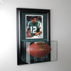 Wall Mounted Football Display Case with 8 x 10