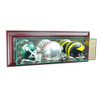 Wall Mounted Triple Mini Helmet Display Case