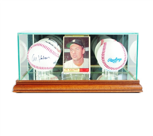 Card and Double Basball Display Case