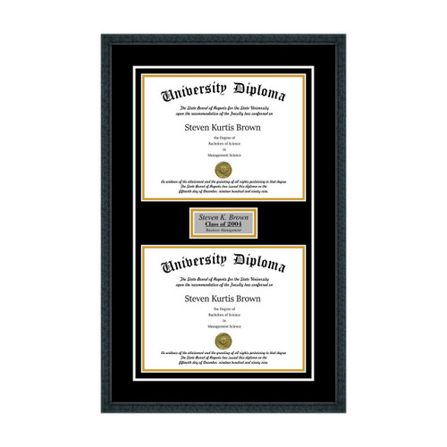 Personalized Double Diploma Frame