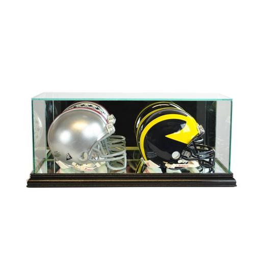 Double Mini Helmet Display Case