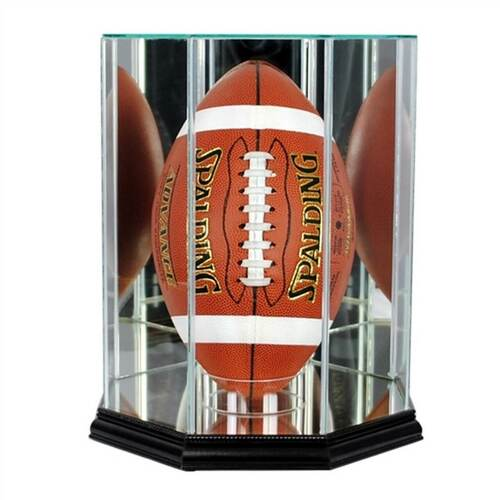 Upright Football Display Case with Black