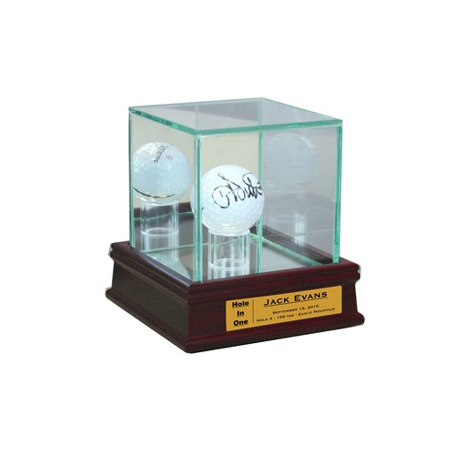Golf Ball Display Case with Sport Moulding