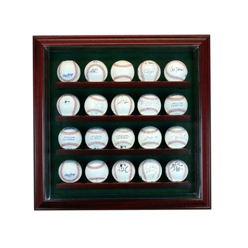 20 Baseball Cabinet Style Display Case