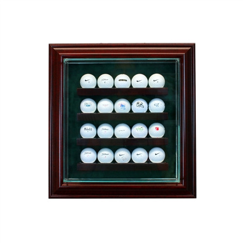 20 Golf Ball Cabinet Display Case
