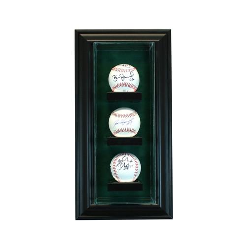 3 Cabinet Vertical Baseball Display Case