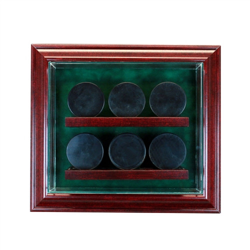 6 Cabinet Puck Display Case