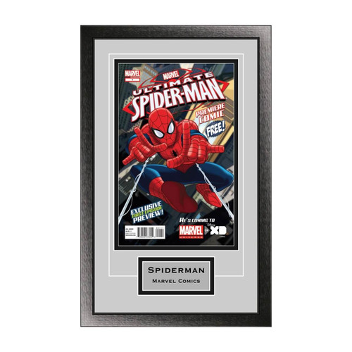 Single Comic Book Frame with Engraving