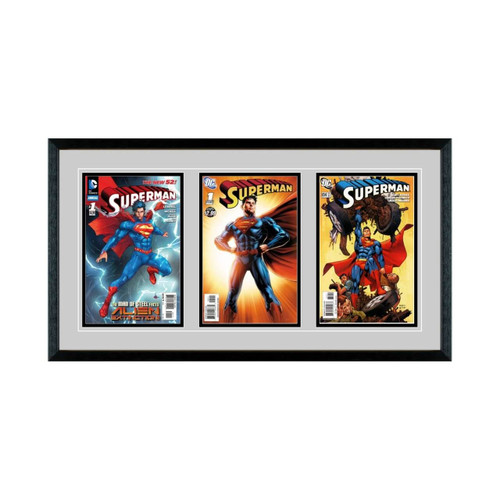 Triple Comic Book Frame with Classic Moulding