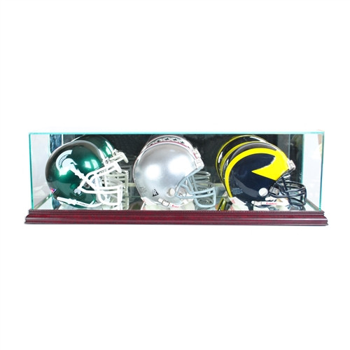 Triple Mini Helmet Display Case