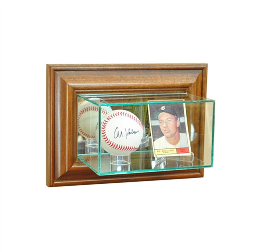 Wall Mounted Card and Single Ball Display Case